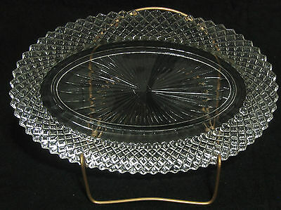 Anchor Hocking Miss America Clear OVAL SHALLOW DISH
