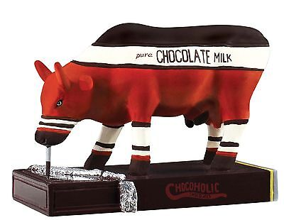 ★ New COW PARADE Figurine CHOCOLOLIC Pure Milk Chocolate Figure Statue KANSAS