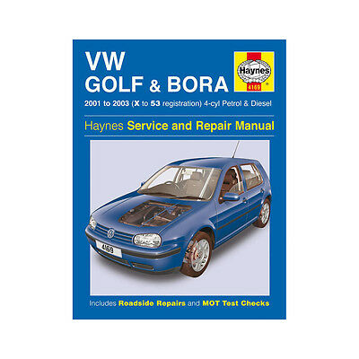 VW Golf Bora 1.4 1.6 1.8 2.0 Petrol 1.9 Diesel 01-03 (X to 53 Reg) Haynes Manual