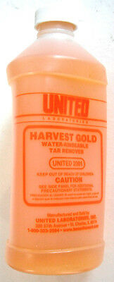 United Laboratories, United 2001 Harvest Gold Water-Rinseable Tar Remover 1 Pint