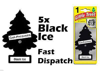 "Magic Tree""little Tree"" Black Ice Fragrance Air Fresheners Pack Of 5"