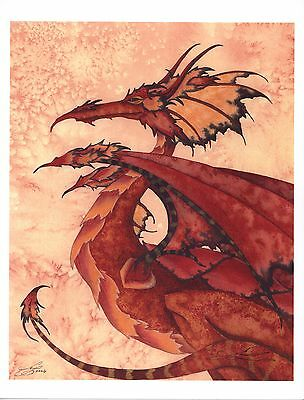 Amy Brown - Fire Dragon - RARE - SIGNED