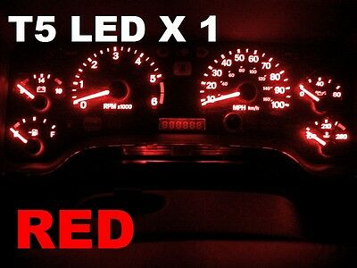 1 X T5 Red LED Dome Wedge  VS VT VX VY VZ VU SS VE AU BA BF FG Dash Console
