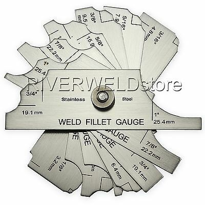 7piece Fillet weld set gage RL gauge Welding Ulnar Metric& inch