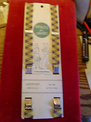 Braces/Suspenders: Vintage Childs on Original Card, Yellow and Brown