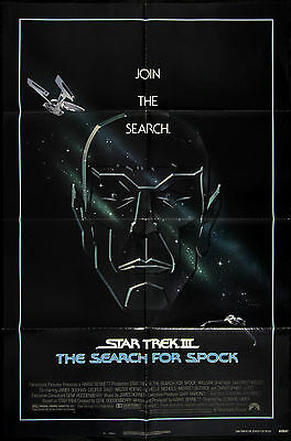 "1984 Star Trek III: The Search For Spock 1-Sheet (27""x41"") Original Movie Poster"