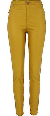 high waisted yellow jeans - Jean Yu Beauty