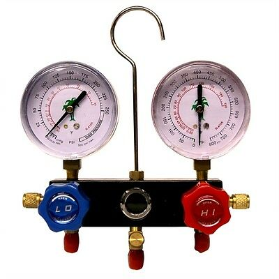 R410A 2 ways Manifold with Gauges