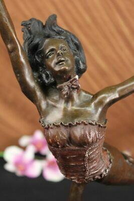 Classic Elegant Bronze Sculpture  Circus Female Performer Real Hotcast Bronze
