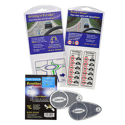 Eurolites Headlamp Adaptors Speed Right Sticker Drive Right Lane Safety Device