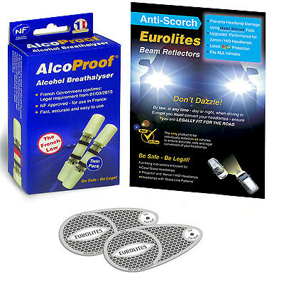 Eurolites Headlamp Beam Adaptors Head Light Convertors 2 French Breathalysers