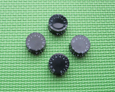 4x Black LP Guitar Knobs, Control Knobs Speed Knobs