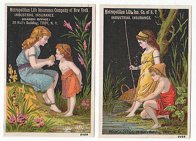 Pair of trade cards for Metropolitan Life Ins. Co. of N.Y. Industrial Insu [3993