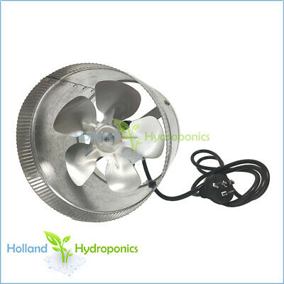 "10"" Ventilation CIRCULAR DUCT FAN Air Blower for Hydroponic Grow Room Tent"