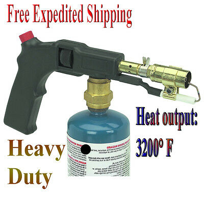 Electric Start Propane Torch With Push Button Trigger Igniter Lighter Heavy Duty
