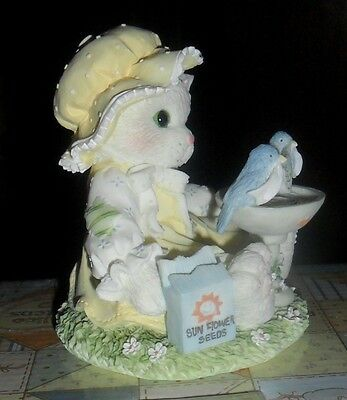 "Enesco Calico Kittens Figurine ""Little BirdTold MeYoure Tweet! Bluebird Figurine"