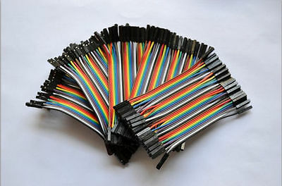 200pcs 10cm 2.54mm 1pin Female to Female Jumper Wire Dupont Cable for Arduino