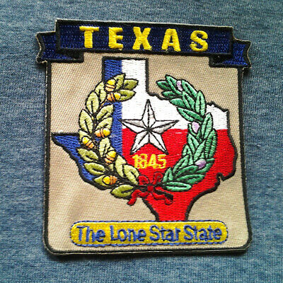 *** TEXAS STATE MAP *** Biker Patch PM6744 EE