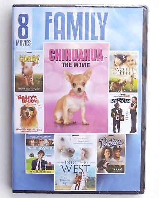 8 Family Movies DVD Chihuahua Gordy Wide Awake Into The West Two Bits Pastime