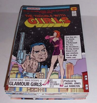 US COMICPACK THE TROUBLE WITH GIRLS Vol. 2 1-23+Christmas Special 1988 SPX