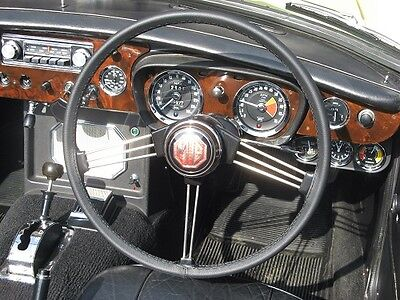 For Mg Mgb 1962-1976 Black Leather Steering Wheel Cover Best Quality