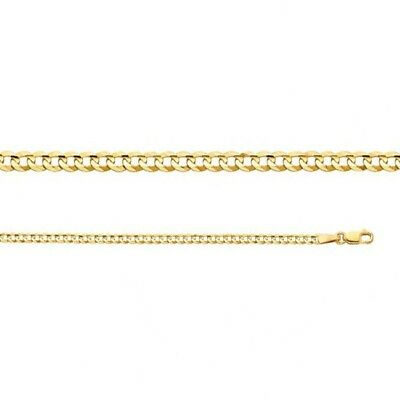 """14k Cuban Link Yellow Gold Chain Necklace Italy Solid Curb 2.7mm 18"""" 20"""" 22"""""""