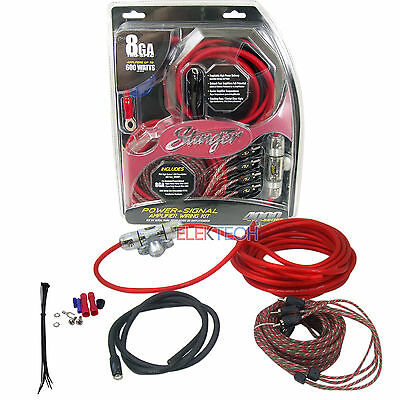 Stinger SK4681 Power/Signal Single Amplifier Install Kit 8 Gauge 600 W 60 Amp