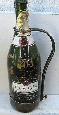 "Vintage Silver Plated Adjustable Wine Bottle Holder by "" PM XX"" Italy  (OI)"