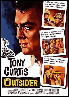 THE OUTSIDER - 1961 - Tony Curtis, James Franciscus - RARE / NEW / OUT-OF-PRINT