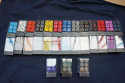 Opaque Dice 16mm D6 Set of 12  - Various Colours - Chessex