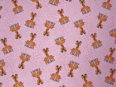 Crib Sheet /fitted / Flannel/handmade  - Giraffe Pairs On Pink Animal Print
