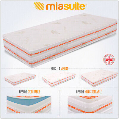 MATERASSO H 25 CM  IN POLIURETANO o WATERFOAM 18 CM E MEMORY FOAM 6 CM TOP