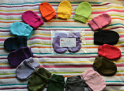 BABY COLOURED SCRATCH MITTENS / MITTS baby shower gift
