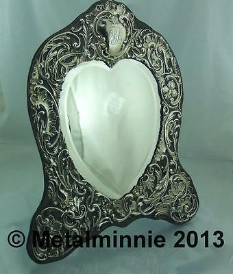 Large Romantic Edwardian Silver Dressing Table Mirror