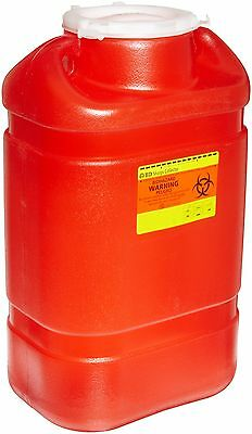 "BD MULTI-USE SHARPS CONTAINER 8.2qt REGULAR FUNNEL 13.5"" x 8.75"" x 5.5"" #305490"