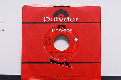 """JAMES BROWN """"I Never, Never, Never Will Forget/Eyesight"""" 45rpm SOUL 7"""" NM Promo"""