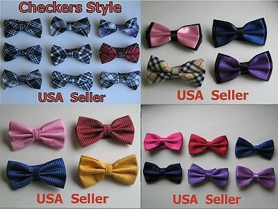 Men's Tuxedo Classic Bowtie Multi Style Neckwear Adjustable Bow Tie - USA Seller