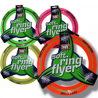 Dog Frisbee Coloured Soft Ring Flyer Dog Puppy Play New Pet Outdoor Disc Toys