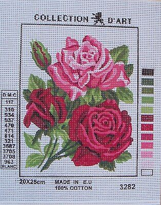 Collection d'Art Needlepoint Canvas - Beautiful Roses - Select from 6 models