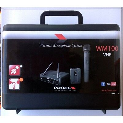 PROEL WM100H radio microfono wireless ad archetto + pulce levalier e bauletto