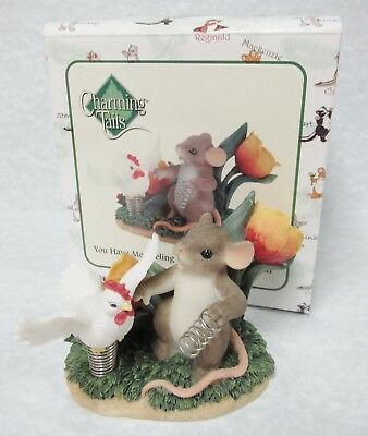 """Charming Tails 88/138 """"You Have Me Feeling Like A Spring Chicken"""" Love expressed"""
