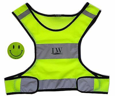 LW Reflective Safety Vest for runners cyclists athletes Ultra-light Yellow S/M