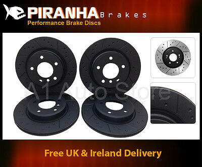 Mazda 6 MPS 2.3 DiSi Turbo 06-08  Front Rear Brake Discs Black Dimpled Grooved