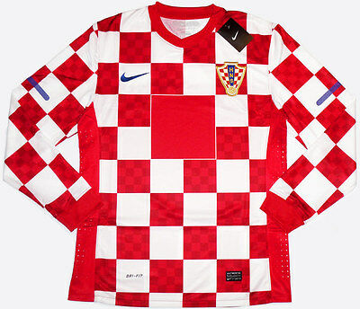 2010-12 Croatia Player Issue Football Shirt Soccer Jersey Top Long Sleeved Match