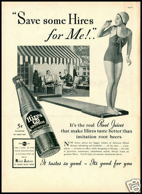 1937 vintage ad for Hire's Root Beer