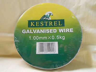 KESTREL GALVANISED LINE WIRE IDEAL FOR GARDEN & HOBBY USE 1.0mm X 65m X 0.5kg