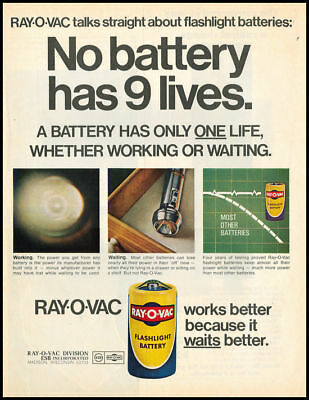 1970 vintage ad for Ray-O-Vac Batteries