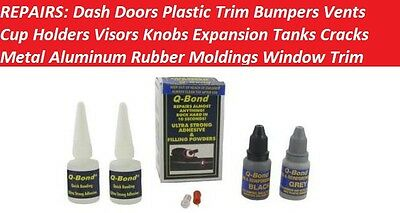 Q-Bond Repair Kit Dash Doors Plastic Bumpers Trim Radiator Grille Cup Holders