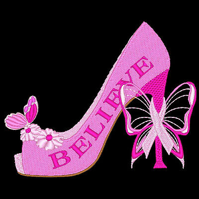 Tuff Enuff To Wear Pink - 20 Machine Embroidery Designs (Azeb)