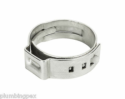 "Pex Stainless Steel Crimp Cinch Ring 1"" - Lot of 100"
